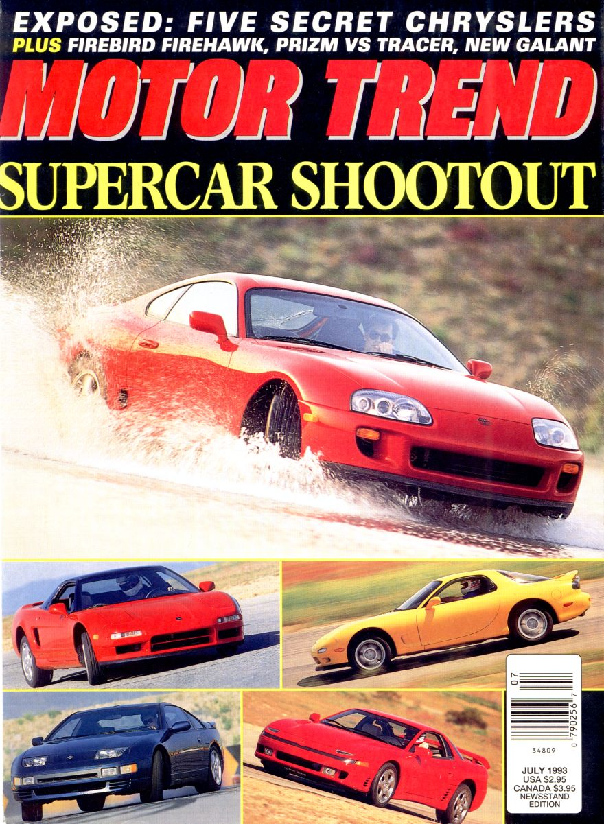 motor trend supercar shootout july 1993. Black Bedroom Furniture Sets. Home Design Ideas