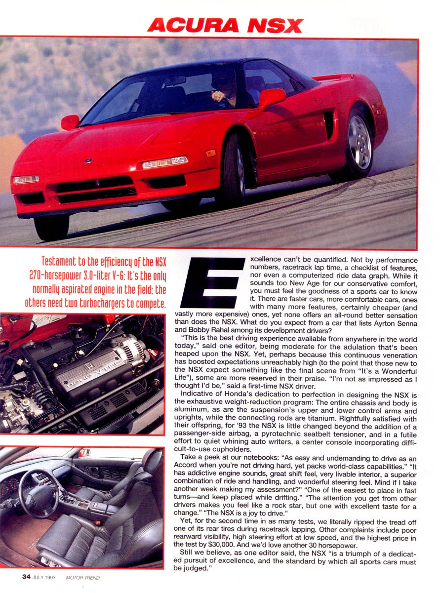 motor trend supercar shootout july 1993