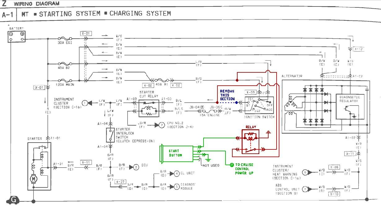 start_button_wiring push button start installation instructions 1991 Rx7 Wiring-Diagram at bayanpartner.co